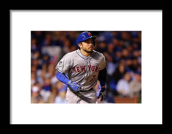 Three Quarter Length Framed Print featuring the photograph League Championship Series - New York by Elsa