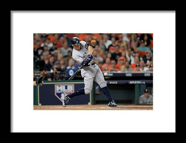 Championship Framed Print featuring the photograph League Championship Series - New York Yankees v Houston Astros - Game Seven by Ronald Martinez