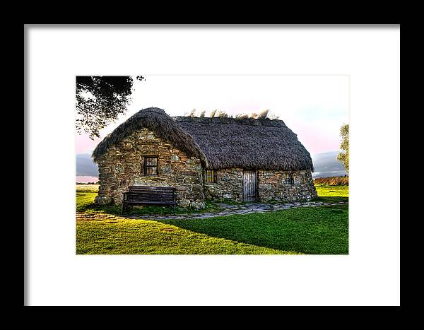 1745 Framed Print featuring the photograph Leanach Cottage by Derek Beattie