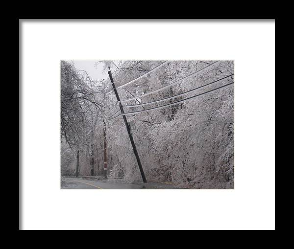 Ice Framed Print featuring the photograph Leaning by Peter DiFrancesco