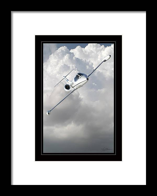 Learjet Framed Prints Framed Print featuring the photograph Learjet by Larry McManus