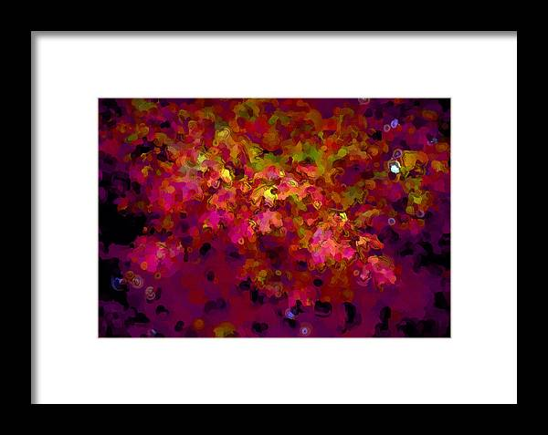 Leaves Framed Print featuring the digital art Leaves In Autumn by George Ferrell