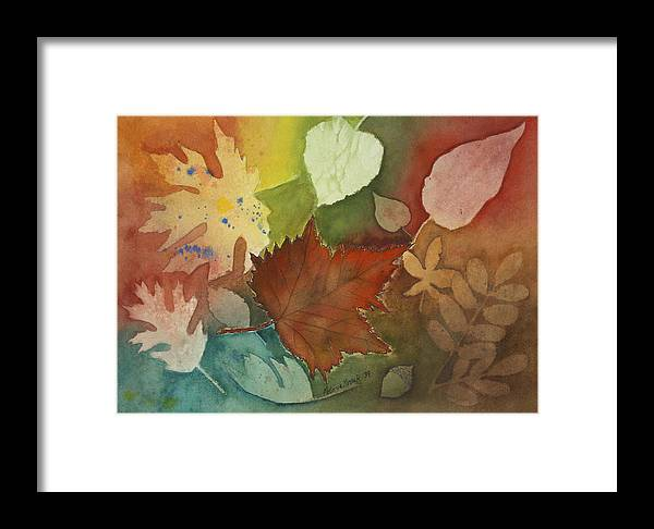 Leaves Framed Print featuring the painting Leaves Vl by Patricia Novack