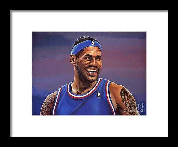 Lebron James Framed Print featuring the painting Lebron James by Paul Meijering