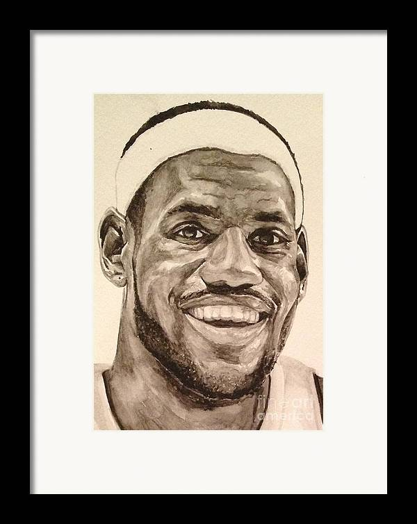 Lebron James Framed Print featuring the painting Lebron James by Tamir Barkan