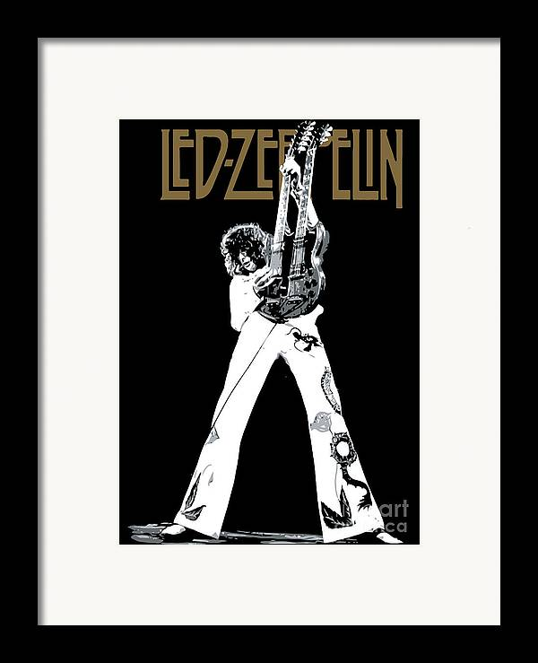 Led Zeppelin Framed Print featuring the digital art Led Zeppelin No.06 by Caio Caldas