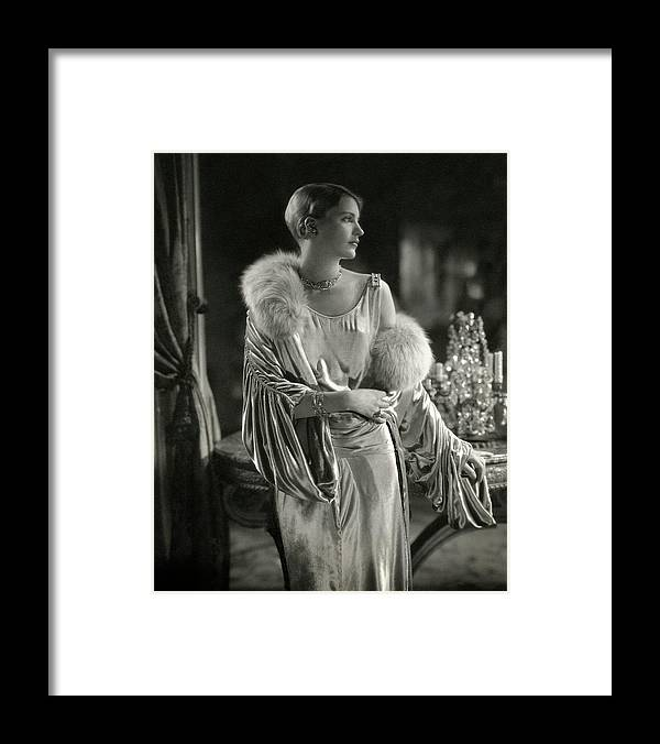 Accessories Framed Print featuring the photograph Lee Miller Wearing An Evening Gown by Edward Steichen
