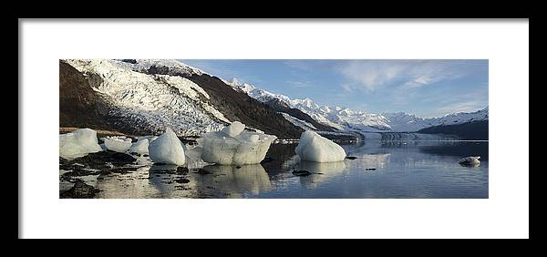College Fjord Framed Print featuring the photograph Left By The Tide by Ted Raynor