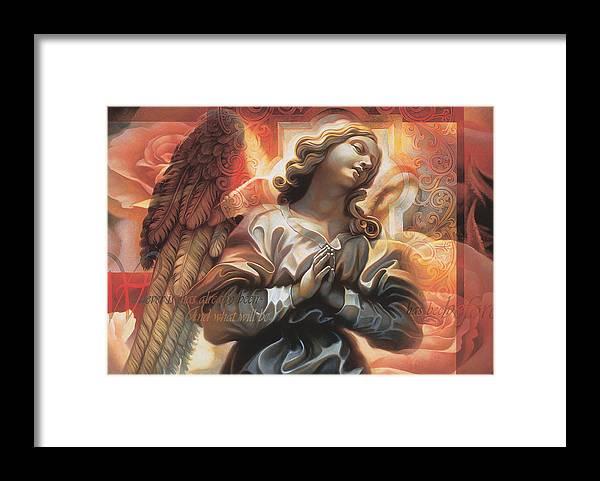 Jesus Framed Print featuring the painting Legacy by Mia Tavonatti