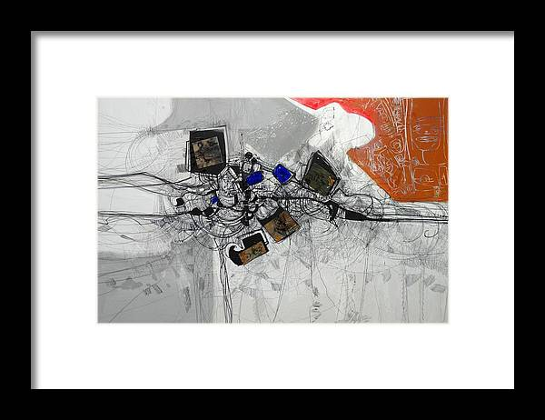 Profondit� Framed Print featuring the painting Legami Di Sangue by Fabrizio Korfu