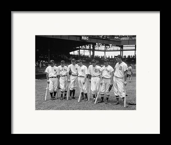Baseball Framed Print featuring the photograph Legends Row by Mountain Dreams
