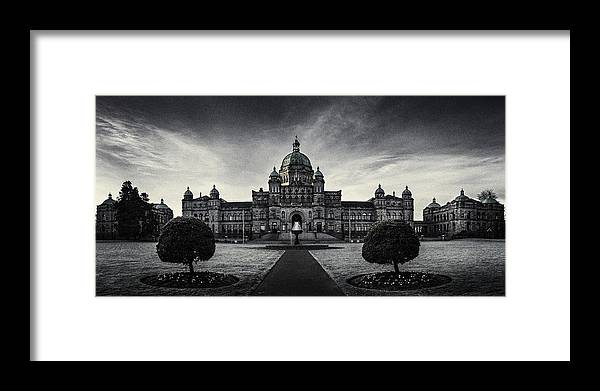 Architecture Framed Print featuring the photograph Legislature Building British Columbia Victoria by Peter v Quenter