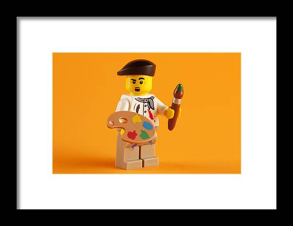 Lego Framed Print featuring the photograph Lego Artist by Samuel Whitton