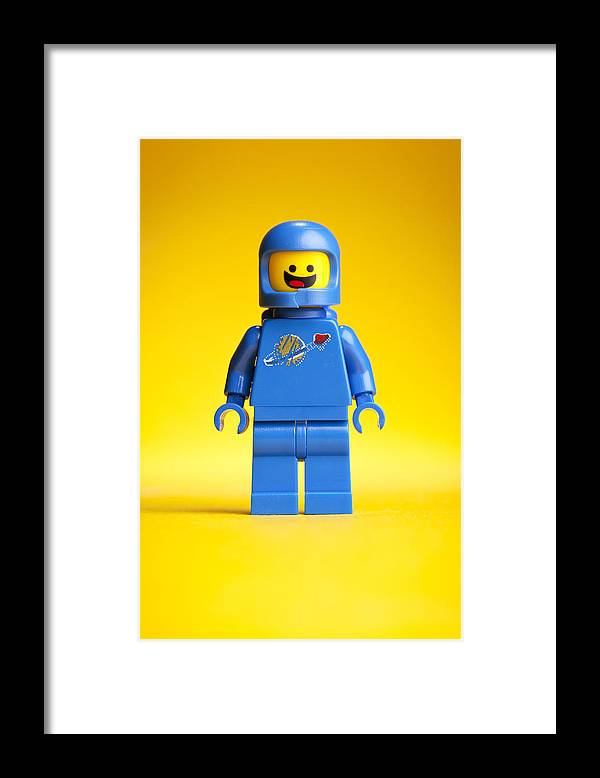 Lego Framed Print featuring the photograph Lego Movie Benny by Samuel Whitton