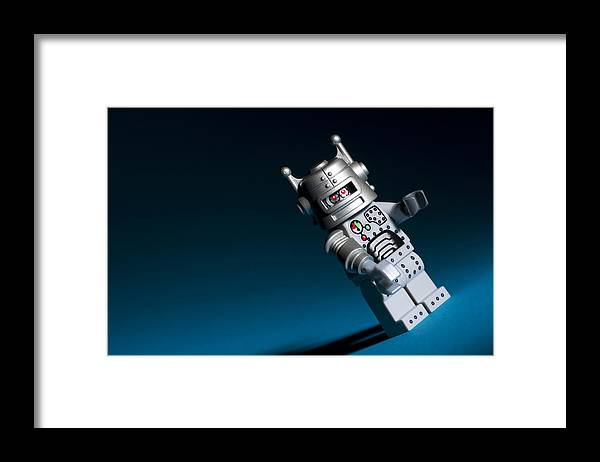 Lego Framed Print featuring the photograph Lego Robot by Samuel Whitton