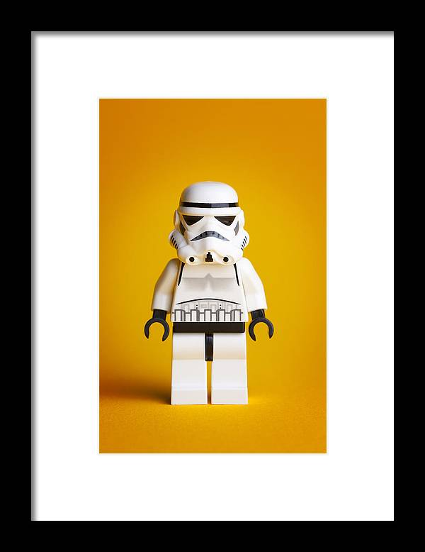 Lego Framed Print featuring the photograph Lego Storm Trooper by Samuel Whitton
