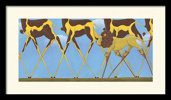Whimsical Giraffe Painting  by Christy Beckwith