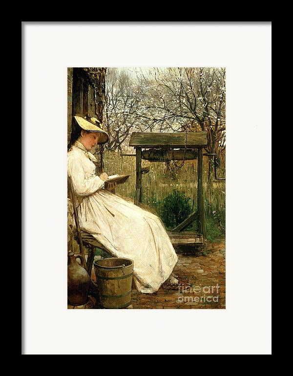Read Framed Print featuring the painting Leisure Hours by John Robertson Reid
