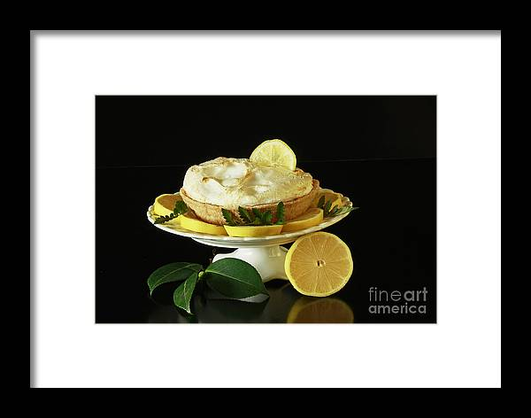 Lemon Meringue Delight Framed Print featuring the photograph Lemon Meringue Delight by Inspired Nature Photography Fine Art Photography