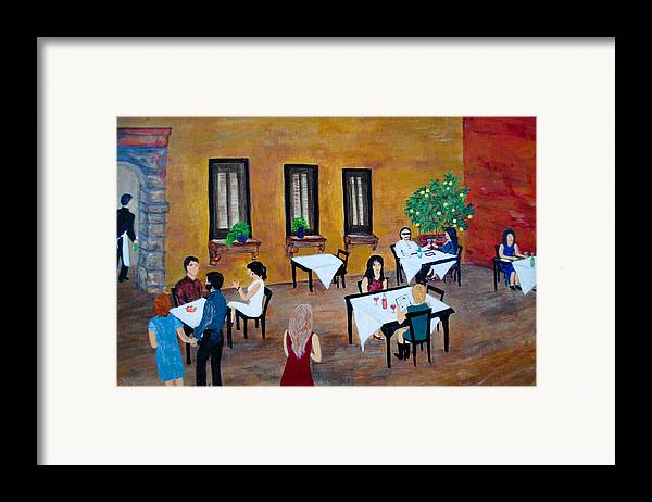 Painting Framed Print featuring the painting Lemon Tree by Dixie Adams