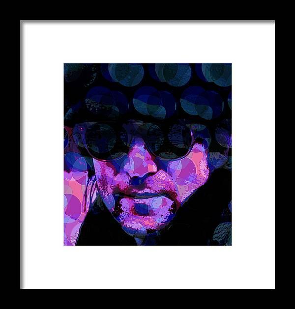 Lennon Framed Print featuring the digital art Lennon by Scott Davis