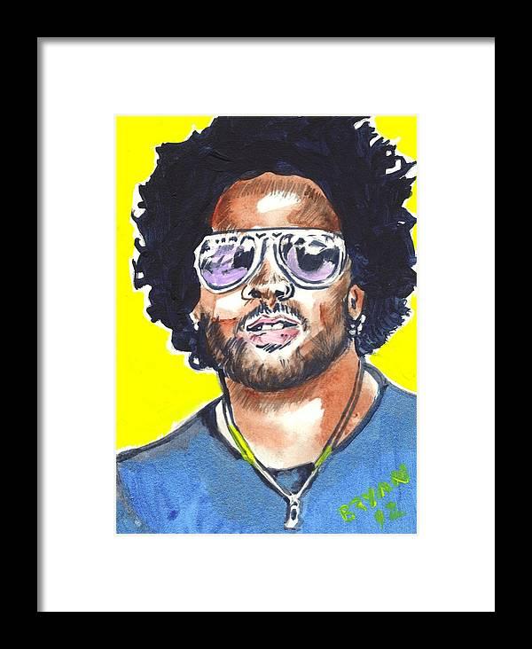 Lenny Kravitz Framed Print featuring the painting Lenny Kravitz by Bryan Bustard