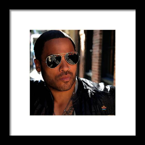 Lenny Kravitz Framed Print featuring the digital art Lenny Kravitz by Gabriel T Toro