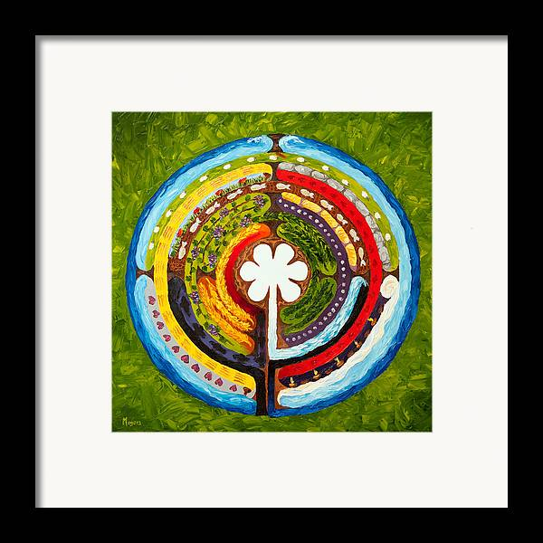 Mike Framed Print featuring the painting Lenten Labyrinth by Mike Moyers