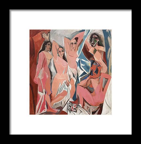 Les Demoiselles D Avignon Framed Print featuring the photograph Les Demoiselles D Avignon by Pablo Picasso