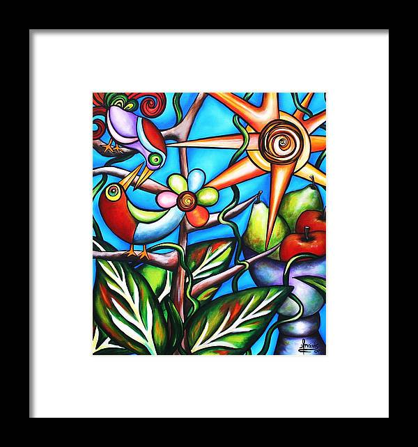 Birds Framed Print featuring the painting Let It Be by Annie Maxwell