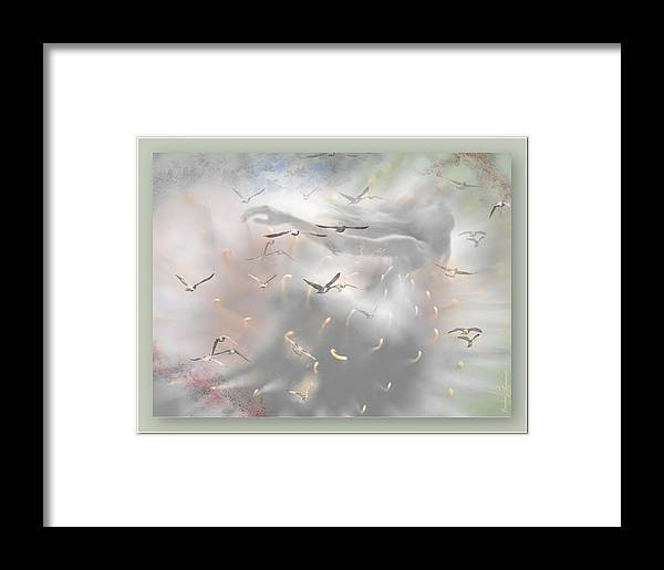 Flying Framed Print featuring the mixed media Let Me Dream by Freddy Kirsheh