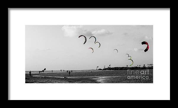 Bay Framed Print featuring the photograph Let The Kites Fly by Christos Koudellaris