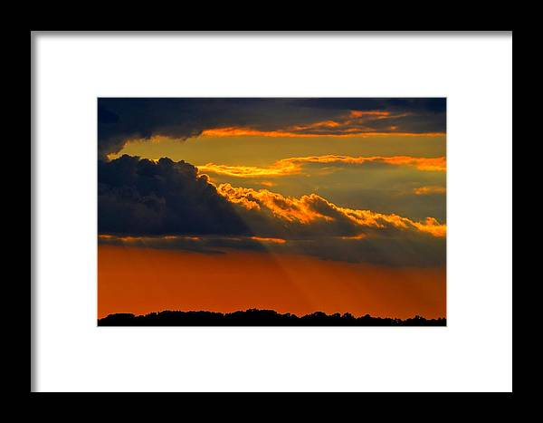 Sunset Framed Print featuring the photograph Let The Light Shine by Ronald Goode