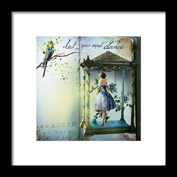 Birds Framed Print featuring the painting Let Your Mind Dance by Laura Botsford