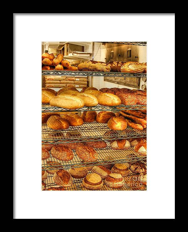 Bread Framed Print featuring the photograph Lets Eat by Robert Pearson
