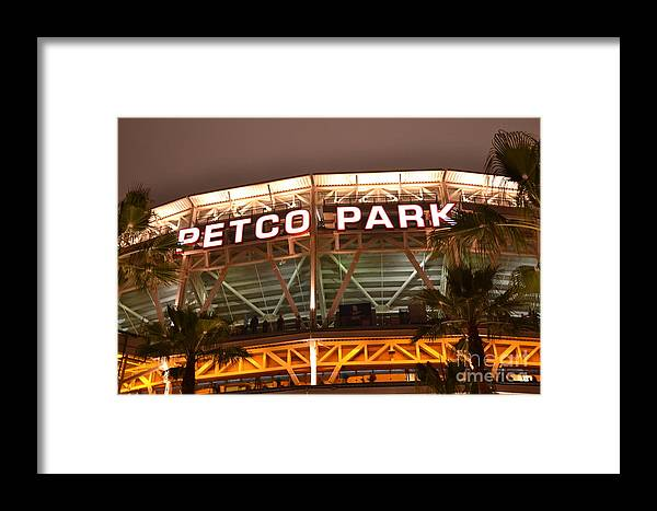 San Diego Framed Print featuring the photograph Let's Go Padres by Leah S
