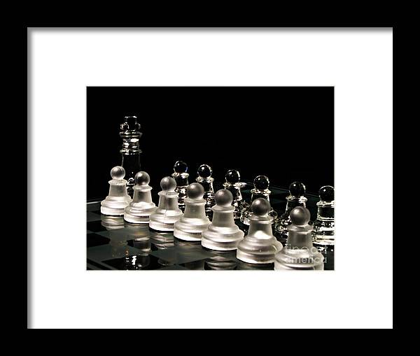 Chess Framed Print featuring the photograph Lets Play. by Dipali S