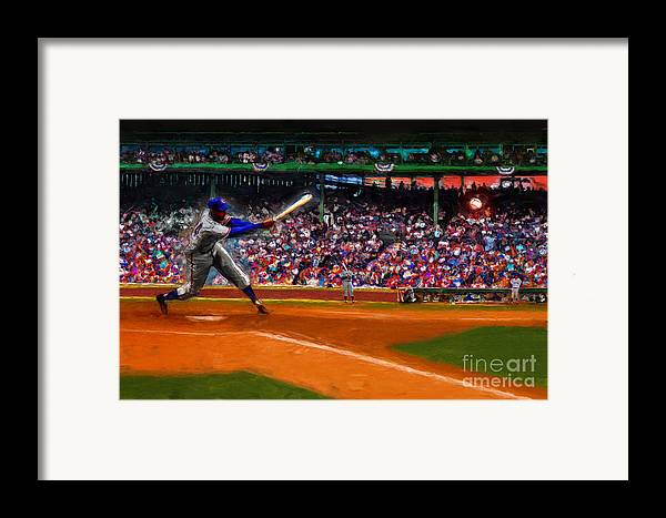 Cubs Framed Print featuring the digital art Let's Play Two by Alan Greene