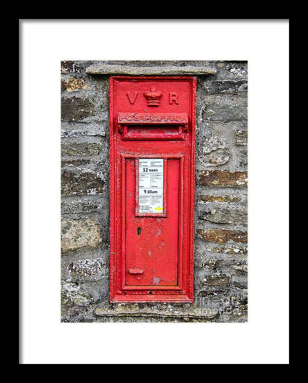 Victorian Framed Print featuring the photograph Victorian Red Letter Box by SnapHound