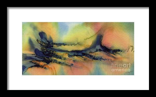 Letting Go Framed Print featuring the painting Letting Go by Addie Hocynec