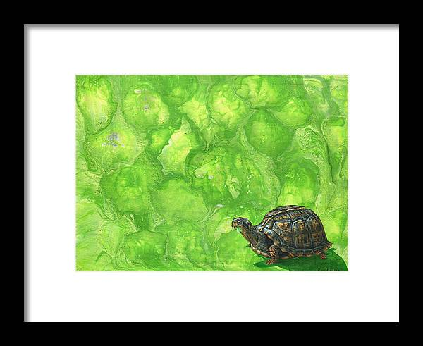 Lettuce Framed Print featuring the painting Lettuce Fetish by Cara Bevan