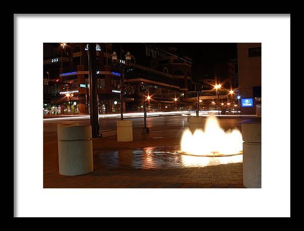 Lexington Framed Print featuring the photograph Lexington At Night by Scott McGinnis