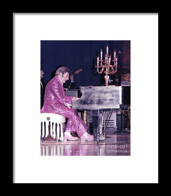 Liberace Framed Print featuring the photograph Liberace Piano Candelabra 1970 - We Will Be Seeing You Lee Liberace by Wayne Nielsen