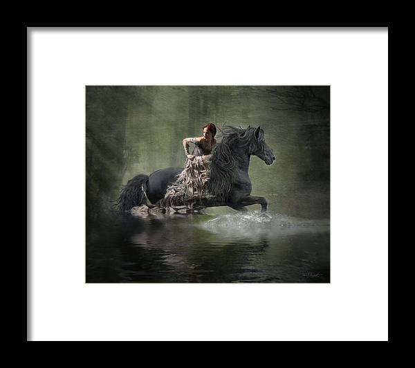 Girl Fleeing On Horse Framed Print featuring the photograph Liberated by Fran J Scott