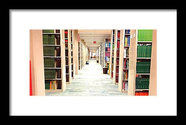 Library Framed Print featuring the photograph Library Daze II by Hannah Rose