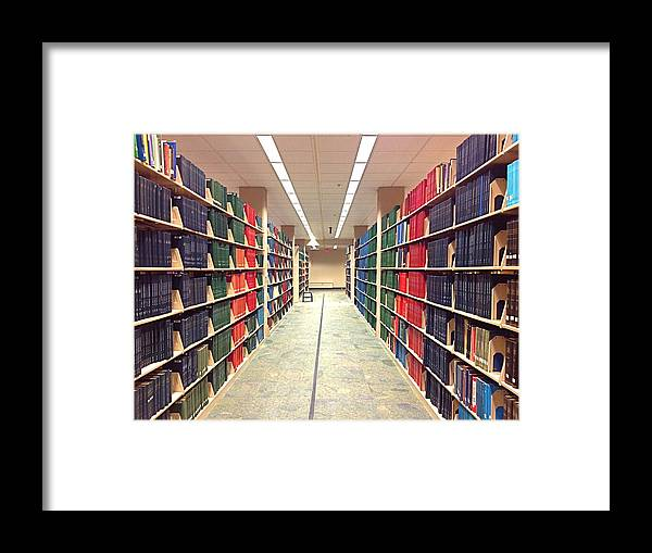 Library Framed Print featuring the photograph Library Daze IIi by Hannah Rose