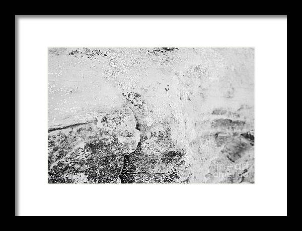 Valley Framed Print featuring the photograph Lichen At Various Stages Including Old Blackened Growing On Sandstone Rock In The Valley Of Fire Sta by Joe Fox
