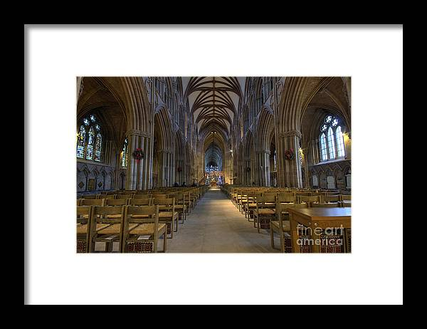 Lichfield Framed Print featuring the photograph Lichfield cathedral 1 by Steev Stamford