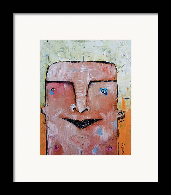 Portrait Framed Print featuring the painting Life As Human No. 37 The Lost Tribe by Mark M Mellon