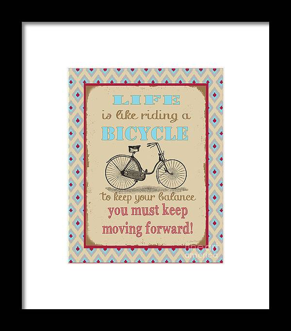 Digital Art Framed Print featuring the digital art Life-bicycle by Jean Plout